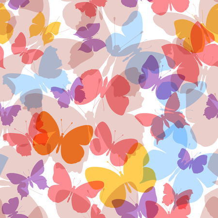 colored seamless pattern butterfly