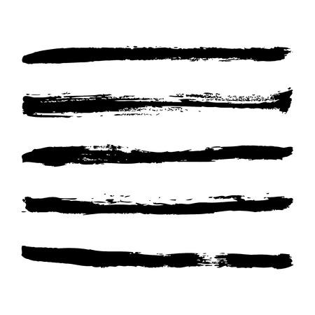 strokes: black strokes of paint Illustration
