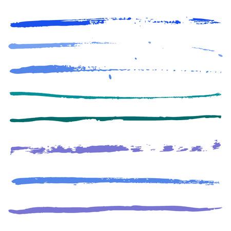 なでる: 塗料の青打