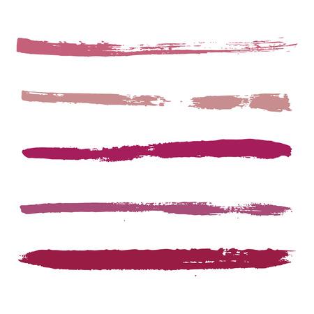 なでる: 塗料の赤のストローク