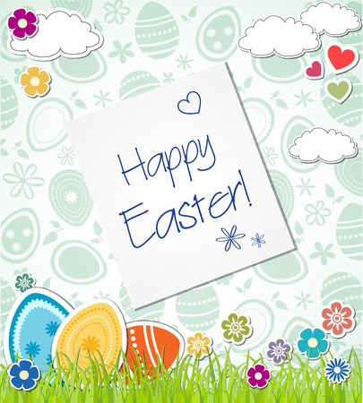 lent: Postcard: Happy Easter. Easter eggs