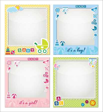 new baby: baby photo frames Illustration