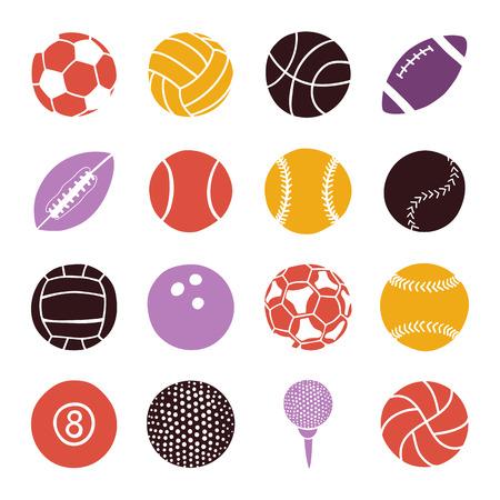 icono deportes: juego de bolas de los deportes