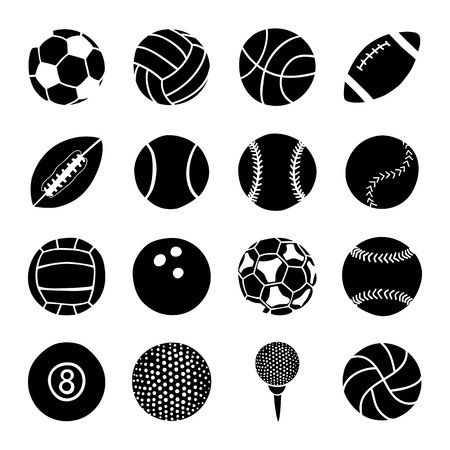 american football ball: set of sports balls
