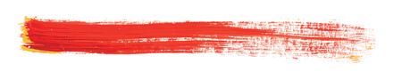 stroking: red brush strokes of paint on white background Illustration