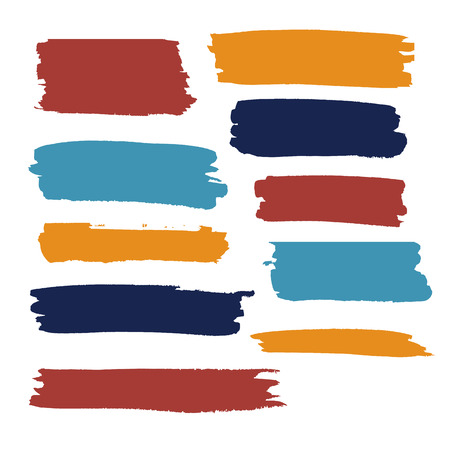 color vector brush strokes of paint