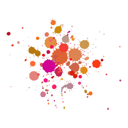 Vector color drops of paint and stains, ink blots Illustration