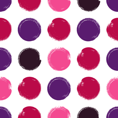 stroking: vector Seamless pattern: brush strokes circles of paint