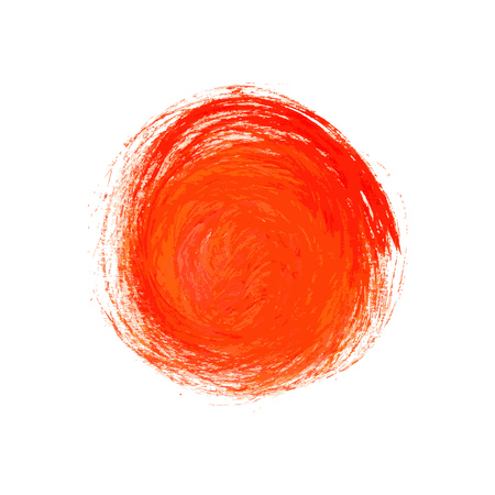 stroking: vector brush strokes circles of paint on white background Illustration
