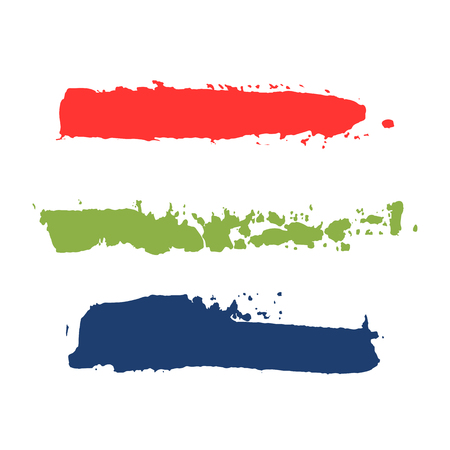 realistic color vector brush strokes of paint