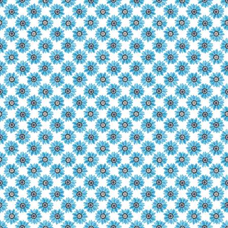 seamless pattern - flowers on the a white background