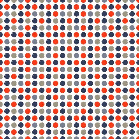 Seamless pattern: brush strokes circles of paint