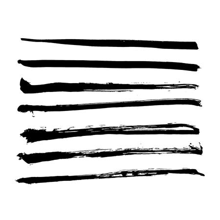 black vector brush strokes of paint on white background Stok Fotoğraf - 89702079