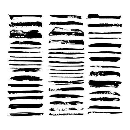 black vector brush strokes of paint on white background Stok Fotoğraf - 89688697