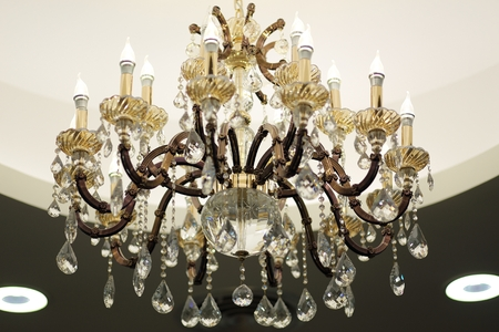 electrolytic: Beautiful chandelier Stock Photo