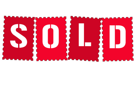 sold sign: Sold sign Stock Photo