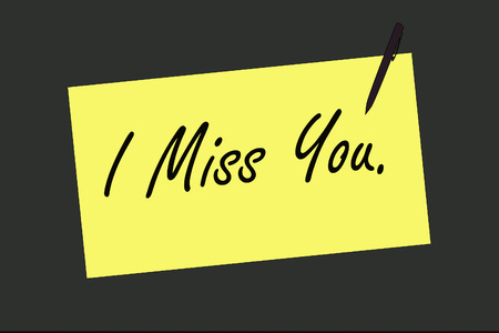 miss: I Miss You on sign board