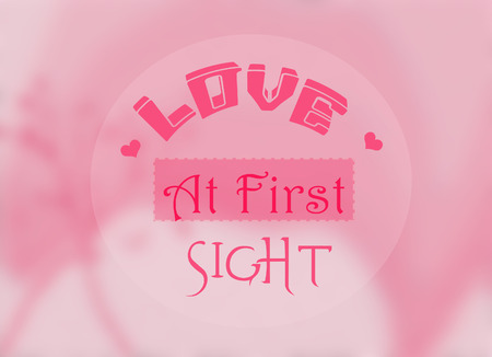 love at first sight: love at first sight qoute Stock Photo