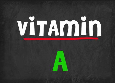 vitamin: Vitamin A on blackboard