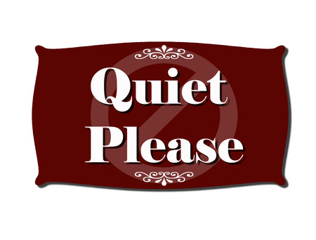 color silence: quiet please sign