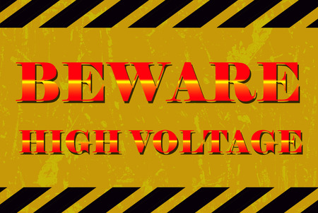 high voltage sign: Beware high voltage sign