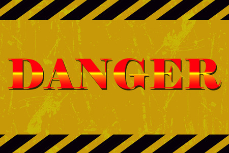 danger sign: danger sign Stock Photo