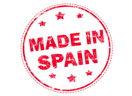 made in spain: made in Spain grunge rubber stamp Stock Photo