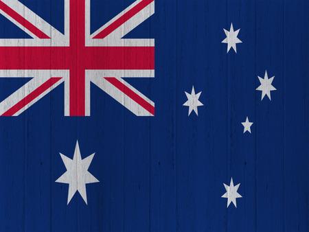 flag australia: Australian flag on wood texture background