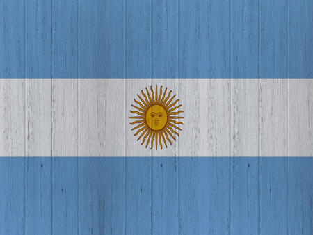 argentina flag: argentina flag on wood texture background Stock Photo