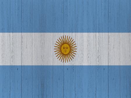 bandera argentina: bandera Argentina en la madera de textura de fondo
