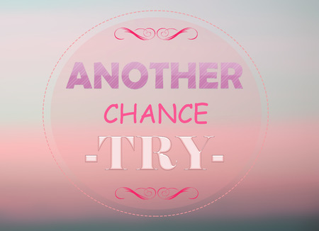 another: Another chance word on pink background