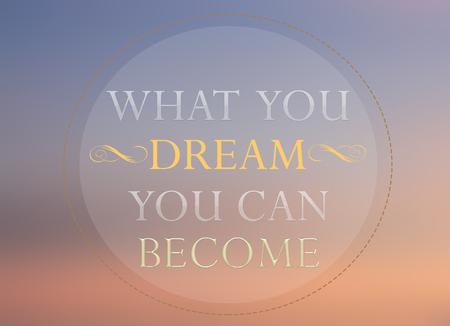 tu puedes: Lo que sue�o puede convertirse en palabra