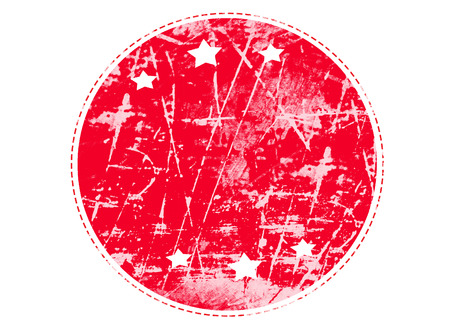 grunge rubber stamp: blank red grunge rubber stamp