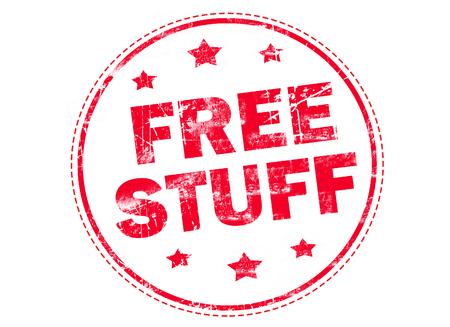stuff: FREE STUFF on red grunge rubber stamp Stock Photo