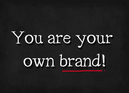 own: you are your own brand word on blackboard