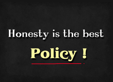 honesty: Honesty is the best policy word on blackboard