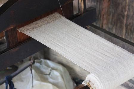 weaving: textile,Silk weaving,Cotton weaving Stock Photo