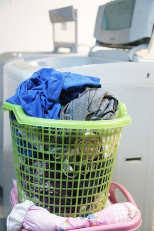 clothes are not wash in a basket and washing machine