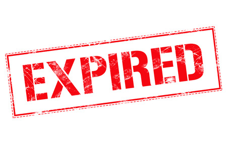 expired: Expired red stamp text on white background Stock Photo
