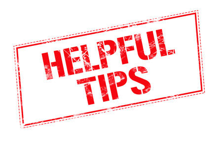 helpful: Helpful tips word red stamp text on white background