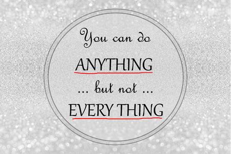 vita citazione - Inspirational, citazione motivazionale su sfondo glitter argento