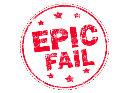 epic: Epic fail word red stamp text on white background