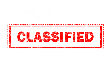 classified: classified on red grunge rubber stamp Stock Photo