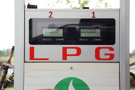 lpg: LPG pump gas station
