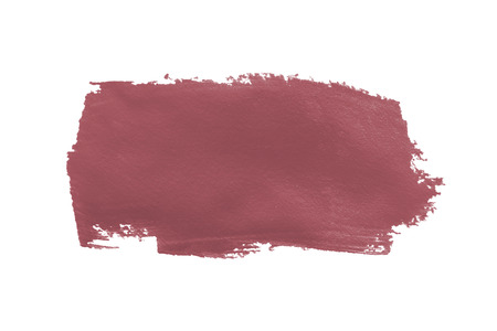 smear: pink brown paint smear stroke stain on white background