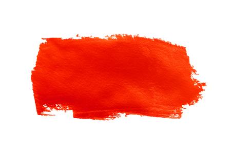 roodbacterie slag vlek verf op een witte achtergrond