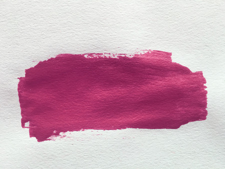 smear: pink red paint smear stroke stain on white background Stock Photo