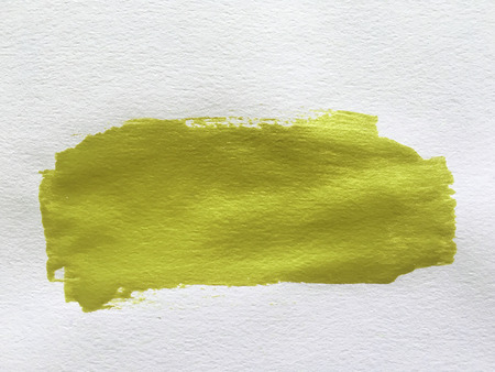 smear: yellow paint smear stroke stain on white background