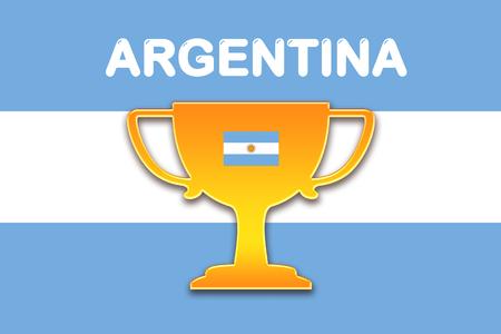 bandera argentina: bandera de Argentina para el f�tbol
