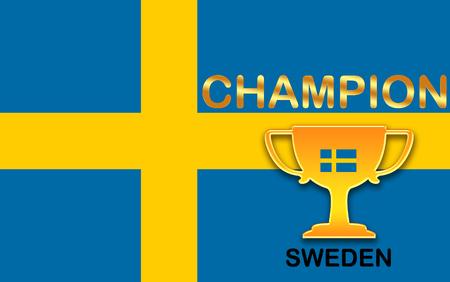 bandera suecia: bandera de Suecia para el f�tbol